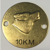 10 KM plade Messing (Ulve)